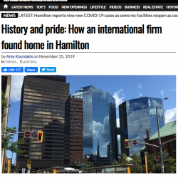 History and pride: How an international firm found home in Hamilton