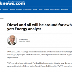 Diesel and oil will be around for awhile yet: Energy analyst